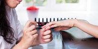Palms: Mani/Pedi or Blowout w/Bubbly & Amenities, 55% Off