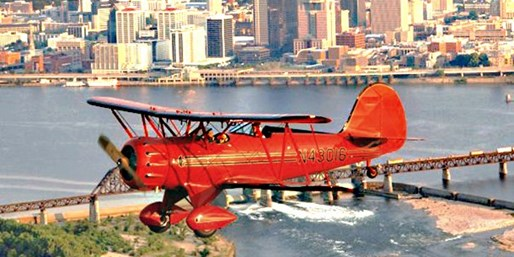 Open-Cockpit Biplane Tour over Louisville, Save over 50%