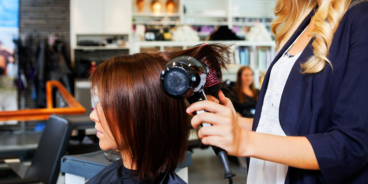$29 -- Salon Blowout, Deep Conditioning & Wine, Reg. $55