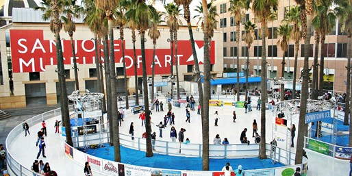 $15 -- Ice Skate Downtown San Jose: Tickets for 2, 55% Off