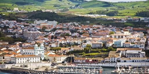 Panorámica de la isla de Terceira, Azores