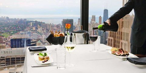 $89 -- Willis Tower: Dinner for 2 at 67th-Floor Private Club