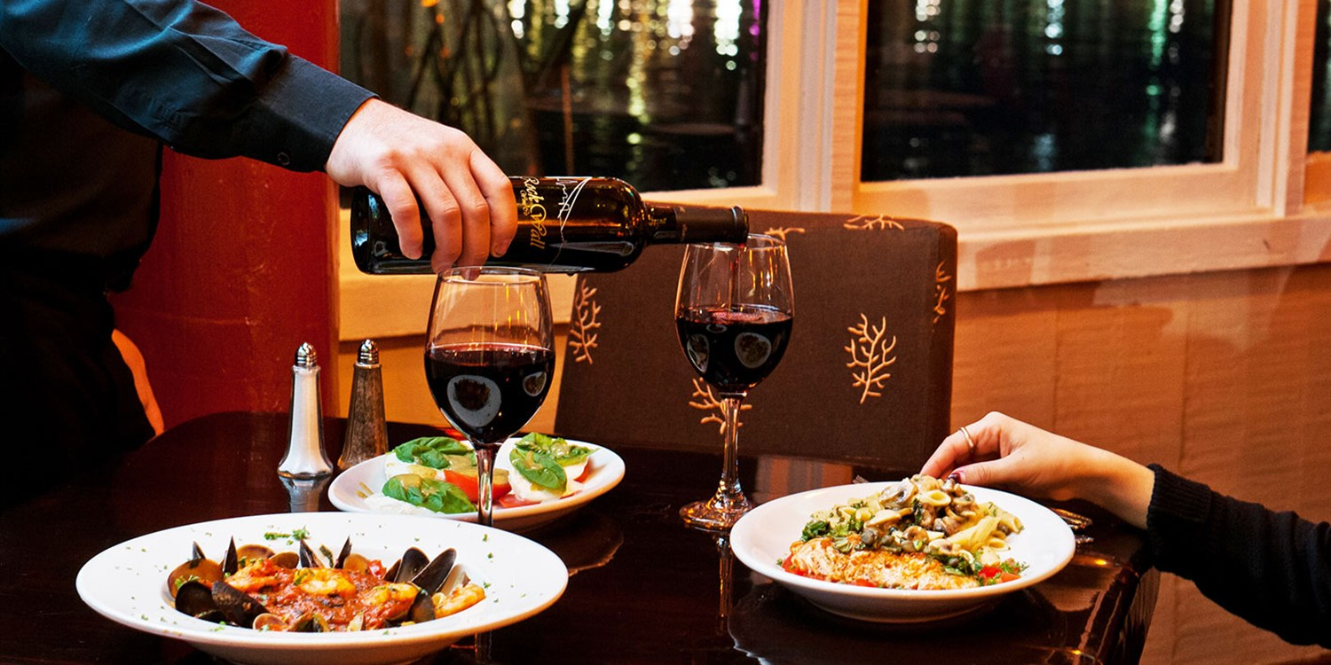 Half Off Waterfront Dinner w/Wine at Pasta Pelican
