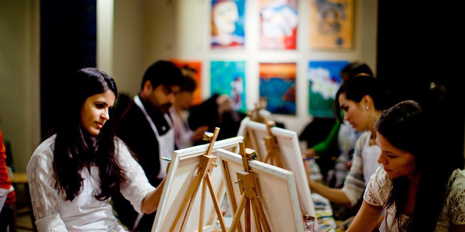 Half Off 'Best of D.C.' Paint Night w/Wine, $25 & Up