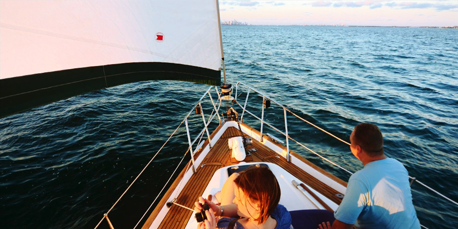 $379 -- Biscayne Bay BYOB Sailboat Cruise for 6 w/Photos