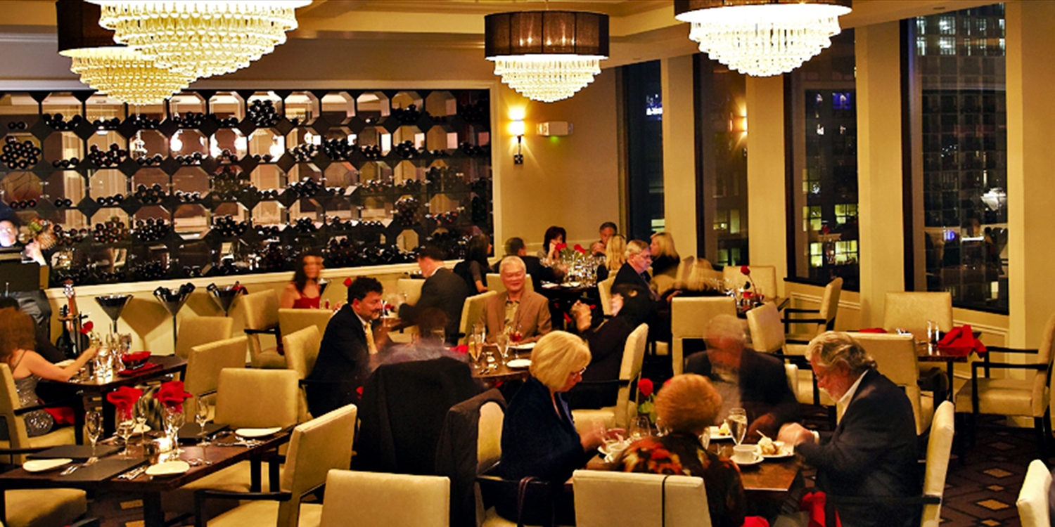 $79 -- Members-Only Club: 18th-Floor Dinner for 2 w/Views