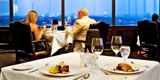 $40 -- Plaza Tower: 27th-Floor Private Club Dinner for 2