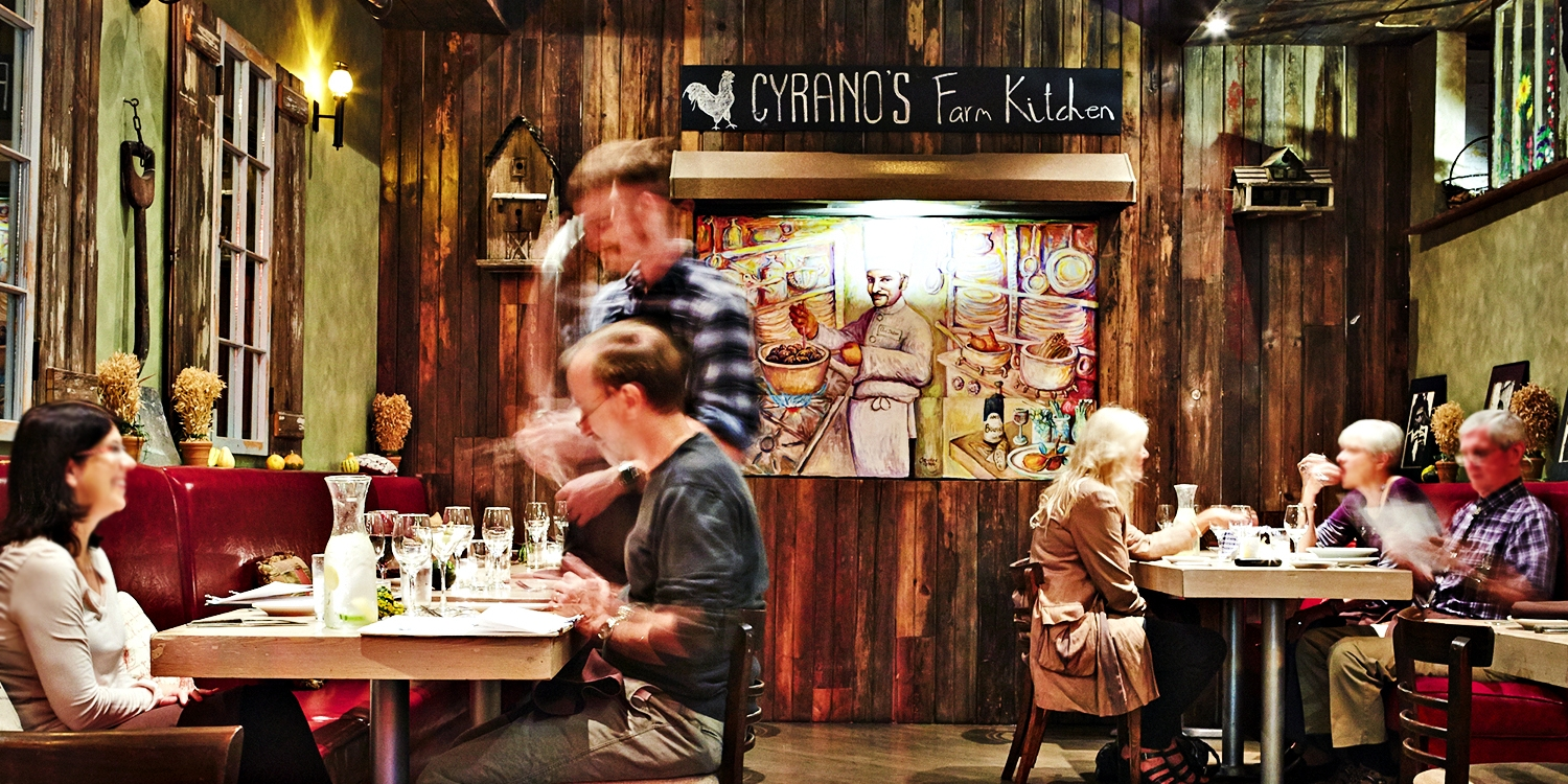 $59 -- Cyrano's Farm Kitchen: Dinner for 2 in River North