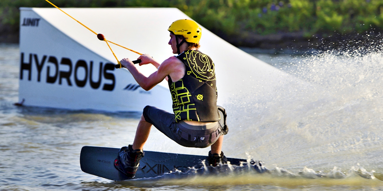 Dallas: $17 & up -- Hydrous: Wakeboarding & Stunt Ramps All Summer