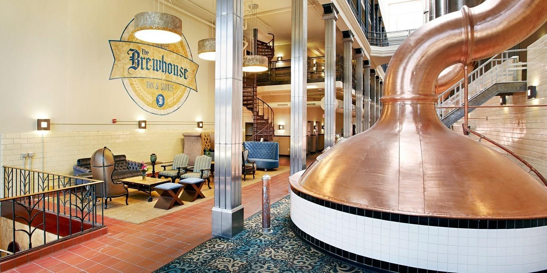$129 – Milwaukee's Brewhouse Inn w/PBR & Parking, Save 45% -- Milwaukee, WI