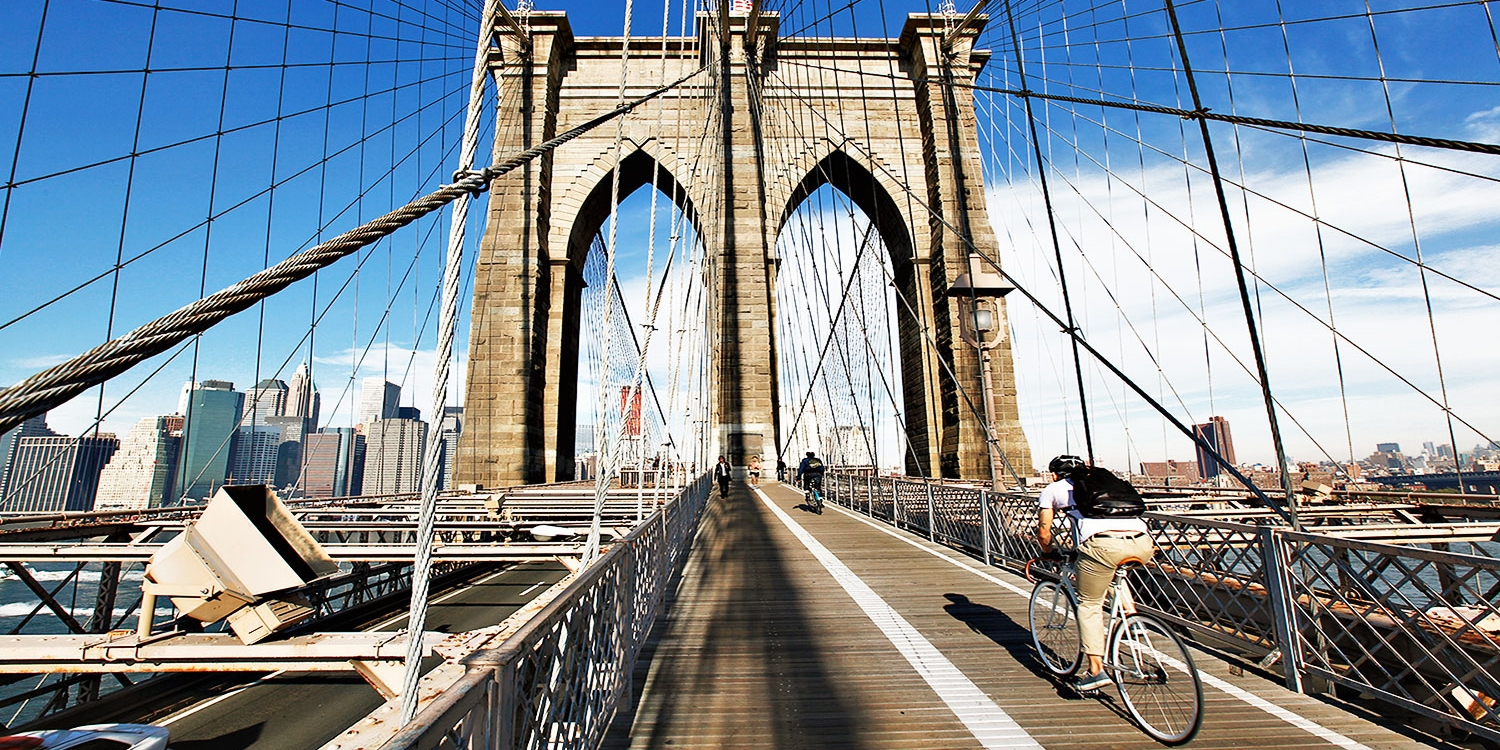 Bike Over NYC's Most Iconic Bridge w/Guided Map and Rental