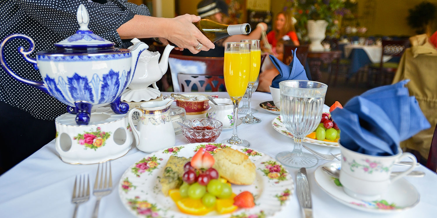 $28 -- Empress Tea Room: Mimosa Brunch for 2, 50% Off