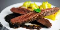 59 € -- Vier-Gang-Genießermenü mit Steak für 2 bei Darmstadt