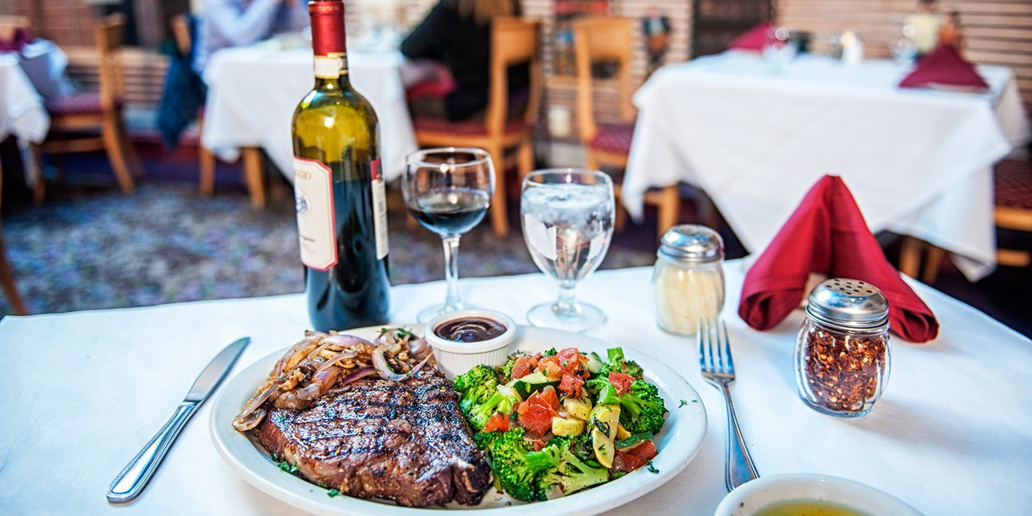 $49 -- Stratosphere: Italian or Steak Dinner for 2, Half Off
