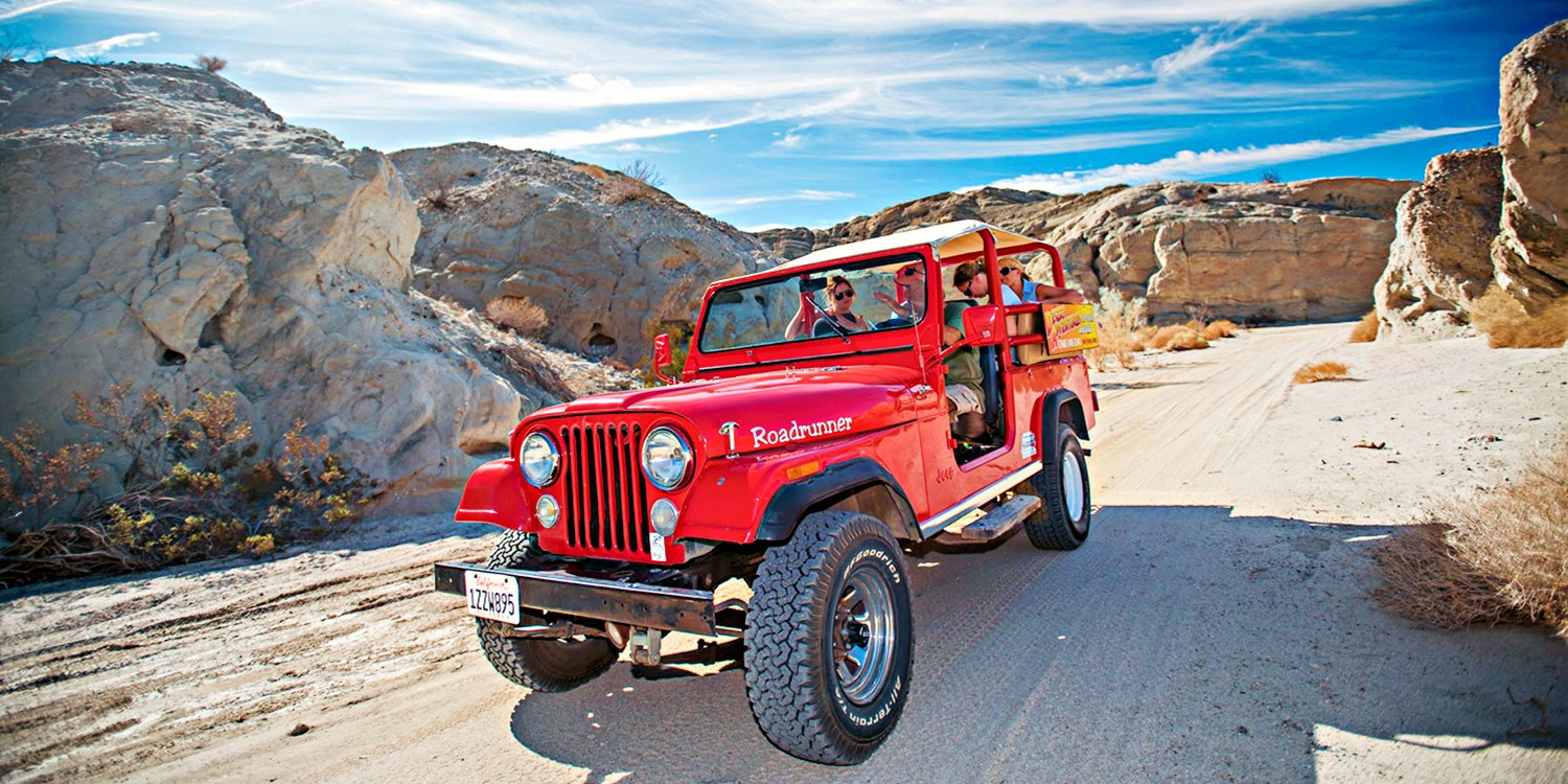 $129 -- San Andreas Fault: Day or Night Jeep Eco-Tour for 2