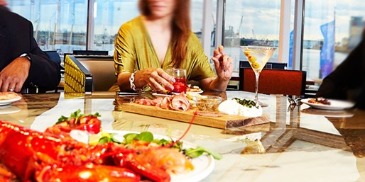$79 -- Town Point Club: Dinner for 2 w/Harbor Views