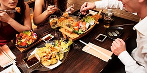 $25 -- 'Sleek' Izakaya Roku: 50% Off Dinner & Drinks for 2
