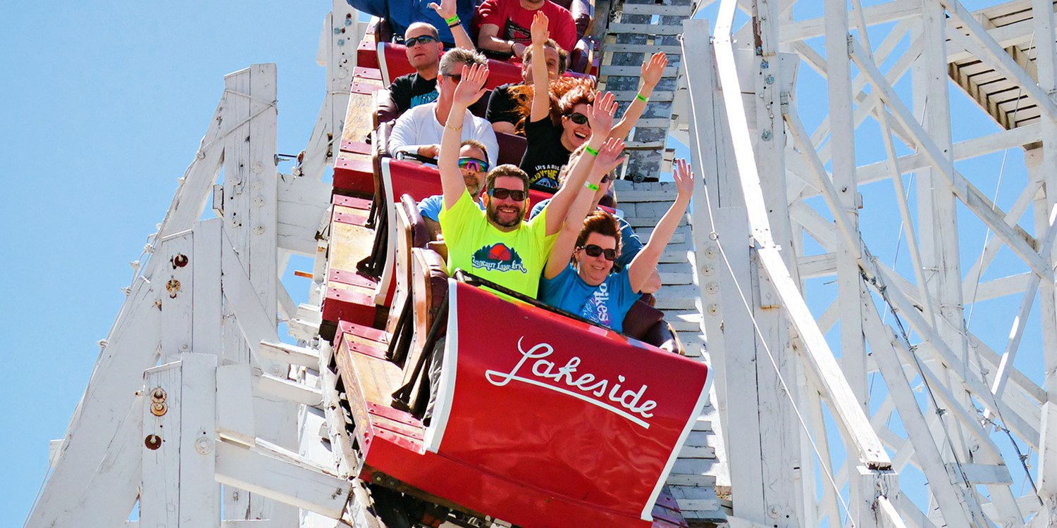 $25 -- Lakeside Amusement Park: Unlimited Rides for 2