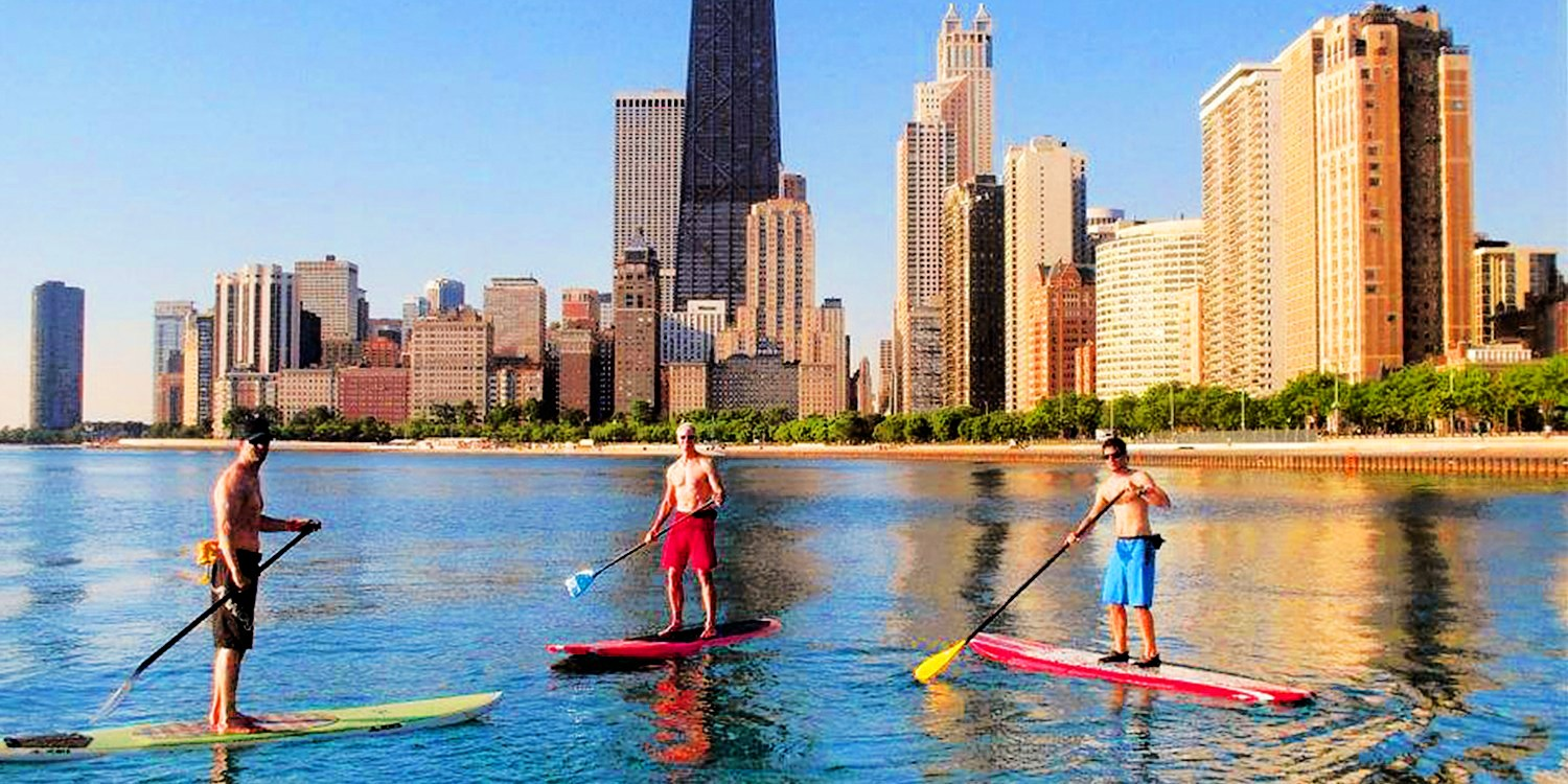 $29 -- North Avenue Beach: Stand-Up Paddleboard Rental