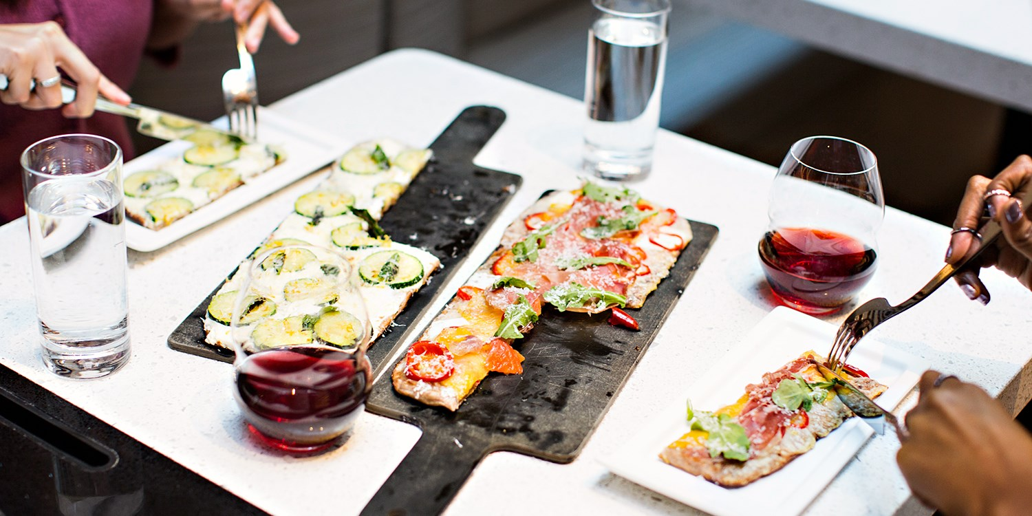 Union Square: Half Off Zagat Pick Pizza w/36 Wines to Choose