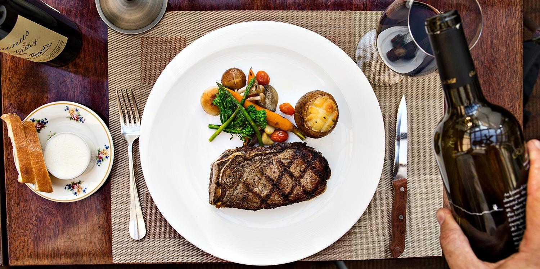 $115 -- Ranch-to-Table Steak Dinner for 2 w/Wine, Reg. $196