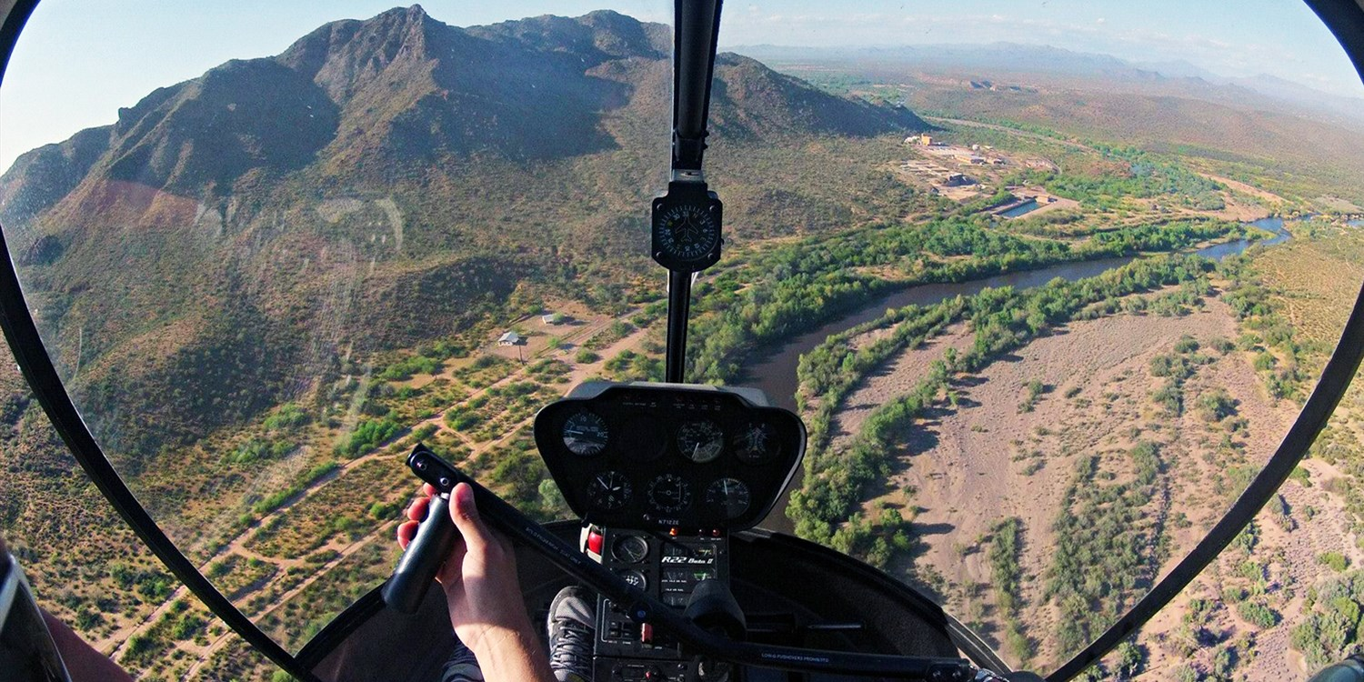 Salt River Valley Helicopter Tour or Flight Lesson, Save 50%
