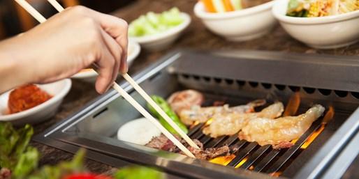 $65 -- Bann: Zagat-Praised Korean BBQ Dinner for 2 w/Wine