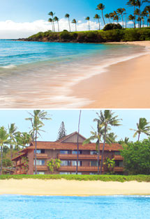 Top: Maui Beach<br>Bottom: Kaanapali Ocean Inn