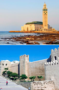 Top: Casablanca<br>Bottom: Rabat