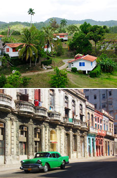Above: Las Terrazas<br>Below: The city of Havana