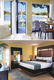 Top: Bayside Bungalow Suite<br>Bottom: Lanai Garden Room