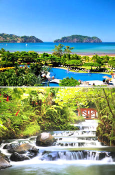 Top: Los Suenos Marriott<br>Bottom: Tabacon