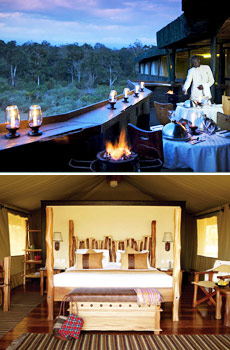 Middle:  Serena Mountain Lodge<br>Bottom:  Sarova Mara Game Camp