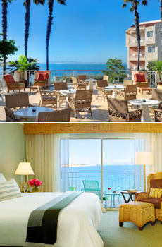 Top: Bay Terrace<br>Bottom: Bay view room
