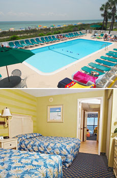 Top: Pool <br>Bottom: Oceanfront Suite