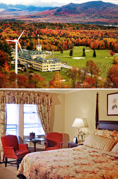 Top: Mountain View Grand Resort<br>Bottom: Grand View room