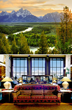 Top: Grand Teton National Park<br>Bottom: Jackson Lake Lodge