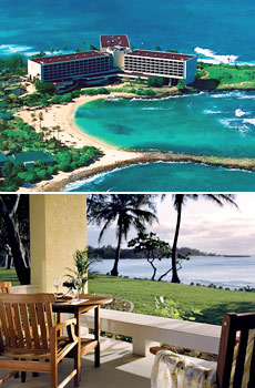 Top: Turtle Bay Resort<br>Bottom: Deluxe Oceanfront Room