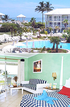 Top: Barceló Marina Palace pool<br>Bottom: Junior Suite