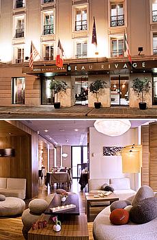 Arriba: Playas de Niza<br>Abajo: Habitación Superior