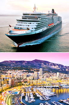 Top: <i>Queen Elizabeth</i><br>Bottom: Monte Carlo
