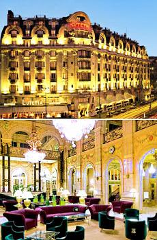En haut : le Lutétia<br>En bas : le Concorde Opéra