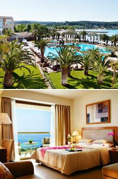 Abajo: Habitación con Vistas Mar Egeo