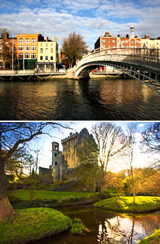 Top: Dublin<br>Bottom: Cork