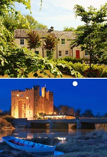 Top: Cottage Exterior<br>Bottom: Bunratty Castle