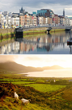 Top: Dublin<br>Bottom: Ring of Kerry<br>