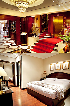 Bottom: Double room
