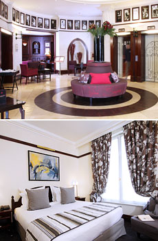 Top: Lobby<br>Bottom: Superior Room