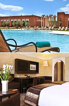 Top: Hotel Kenzi Club Agdal<br>Below: Standard Room