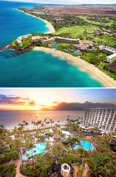 Top: Sheraton Maui Resort & Spa<br>Bottom: Westin Maui Resort & Spa